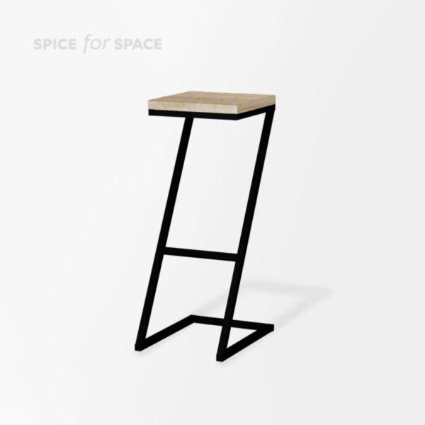 """hoker LOFT Z na wynajem w kształcie litery """"Z"""" z drewnianym siedziskiem"""