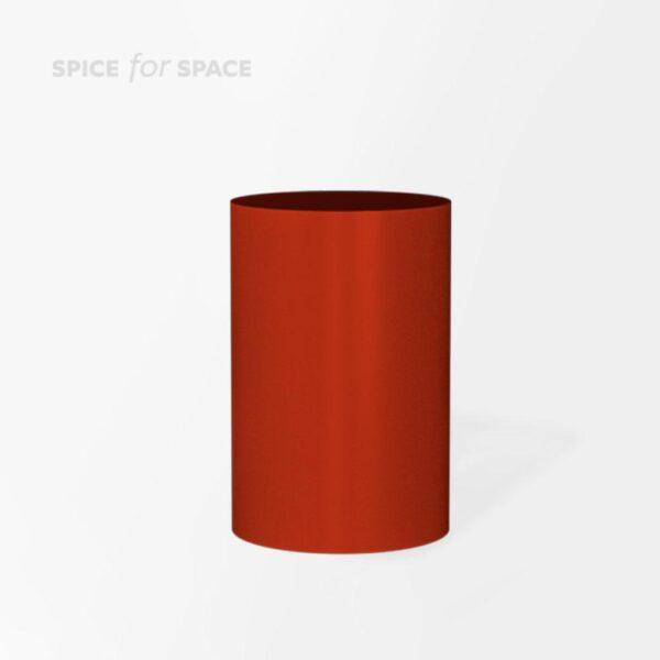 czerwony owalny postument na wynajem