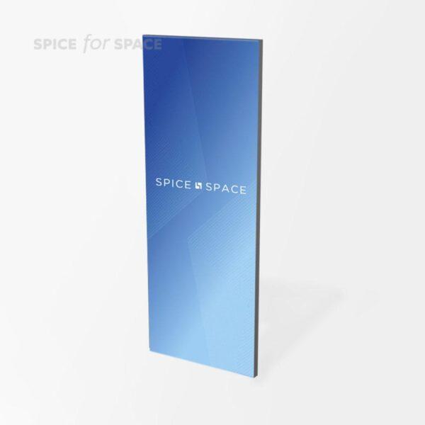 ściana systemowa 100x250cm z dedykowaną grafiką frontu
