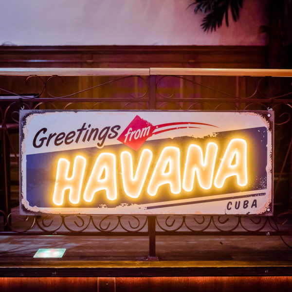neon greetings from Havana