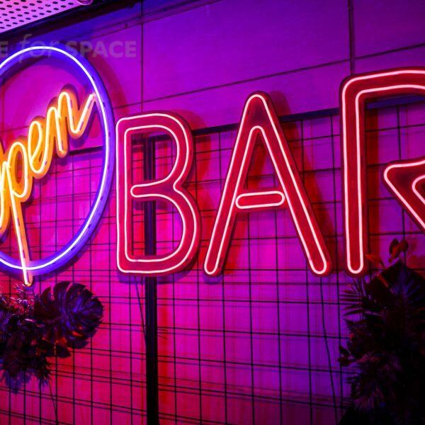 neon open bar