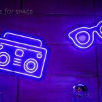 neon boombox
