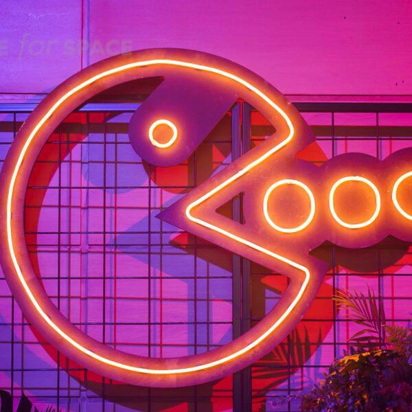 neon ikona PACMAN